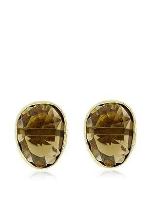 My Silver Pendientes Luxury Oro Topacio
