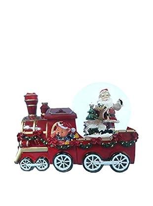 Kurt Adler Santa And Teddy Train Musical Waterglobe