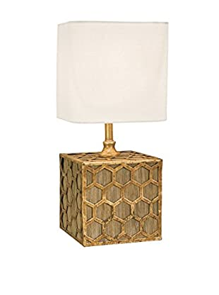 Home Philosophy Honeycomb 1-Light Mini Table/Pin-Up Sconce Lamp, Gold