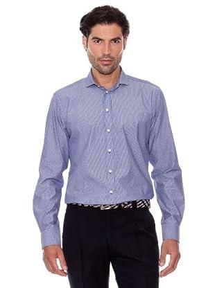 Pedro Del Hierro Camisa Rayas (Azul Marino)