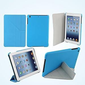 【39s】iPad Mini 専用 デュアルスタンド機能付スマートカバー ブルー
