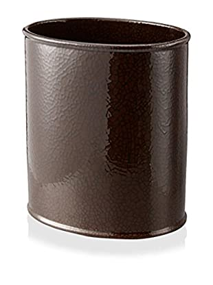 Creative Bath Crackle Wastebasket, Brown