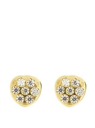 Gold & Diamond Pendientes Corazón Circonita