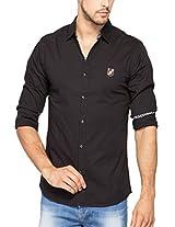 Spykar Men Cotton Black Casual Shirt (XX-Large)