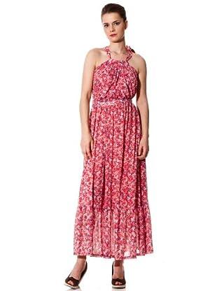 Naf Naf Vestido Flores (Rosa)