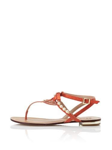 Schutz Women's Pearl T-Strap Sandal (Tomato)