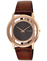Titan Edge Analog Brown Dial Men's Watch - 1577WL01
