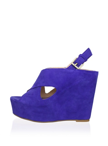 Dolce Vita Women's Julie Wedge Sandal (Blue Suede)