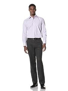 Valentino Men's Dress Shirt (Purple/Light Purple Stripe)