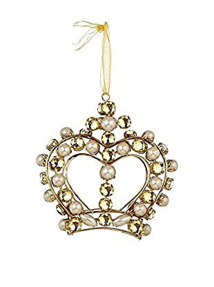 Sage & Co. Gold Jeweled Crown Ornament