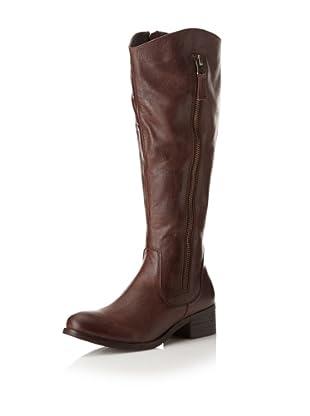 Chocolat Blu Women's Norman Side Zip Long Boot (Brown)