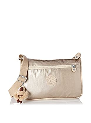 Kipling Women's Callie Medium Handbag With Adjustable Shoulder Strap, Champagne Metallic Combo