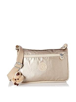 Kipling Women's Callie Medium Handbag With Adjustable Shoulder Strap, Champagne Metallic Combo