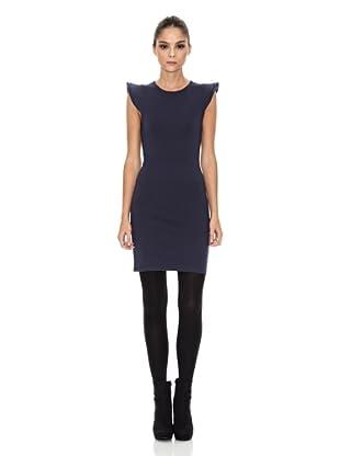 Rare London Vestido High Shoulder (Azul)