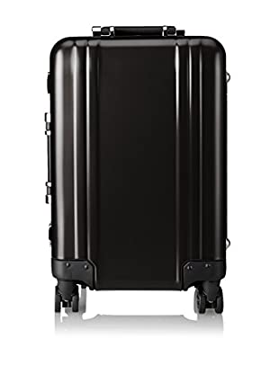ZERO Halliburton Classic Aluminum Carry On 4-Wheel Spinner Travel Case, Black