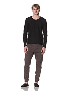 Saxony Men's Rolando Knit Tee (Black)