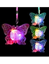 Led Jelly Butterfly Necklaces Assorted