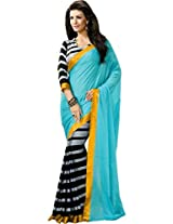 Way to Shop Women's Bhagalpuri Silk Saree (1Hans Firozi Saree_Multi-Coloured)