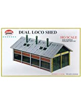 Model Power HO Scale Building Kit - Dual Locomotive Shed