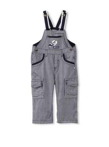 KANZ Baby Striped Overalls (Navy)