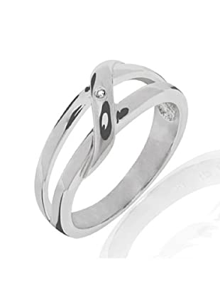 Damen-Ring 925 Sterlingsilber 1 Diamant 0,01 weiß