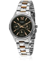 Enticer Ltp-2085Rg-1Avdf-A846 Two Tone/Black Analog Watch Casio