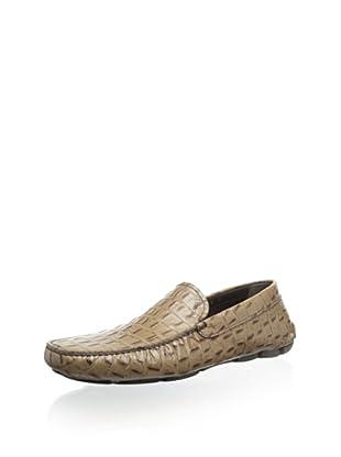 Prada Men's Pattern Loafer (Brown)