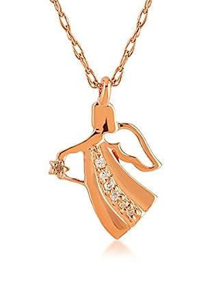Divas Diamond Conjunto de cadena y colgante Diamond Gold Angel