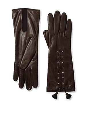 Portolano Women's Lace-Up Leather Gloves (Tan)