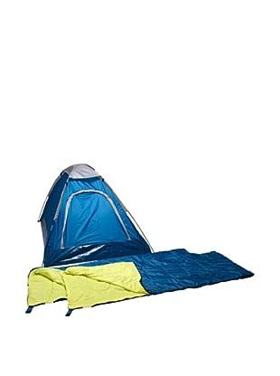Columbus Pack Tienda Adulto + 2 Sacos De Dormir Combo Domepack (Azul)