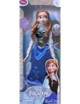"Frozen Motion Activated Singing & Light Up Anna Doll 16"" Doll Sings ""For The First Time"" Disney Store Exclusive (2013)"