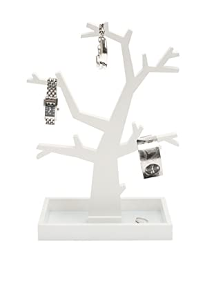 Present Time Dress Up Jewelry Tree, White