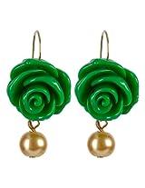 Fabulloso! Pearl Dangle & Drop Earring For Women (Green)