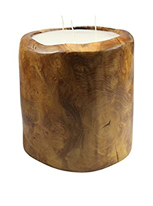 Volcanica Teakwood Bucket Candle, Natural