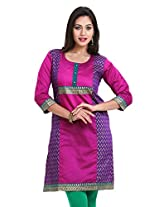 Mytri Wine Long Kurta(9000031-Wine-L)