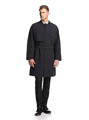 Lanvin Men's Trench Coat (Navy Blue/Dark Grey)