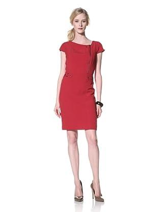 Chetta B Women's Sheath Dress with Zipper Detail (Bali Red)