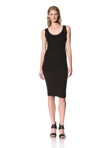 RICK OWENS Women's Light Rib Tank (Black)