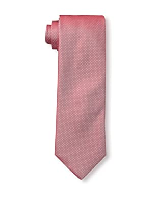 Rossovivo Men's Dot Tie, Red/White
