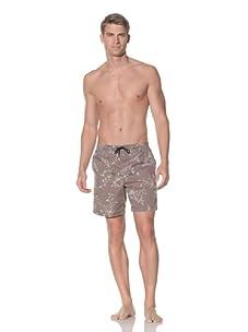 Rhythm Men's Floral Box Jam Swim Short (Green)
