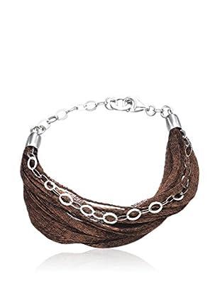 Devota & Lomba Armband silber/braun