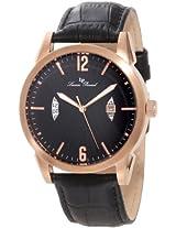 Lucien Piccard Men's LP-11561-RG-01 Watzmann Black/Black Textured Leather Watch