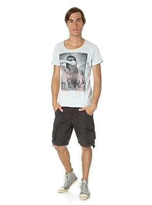 JACK & JONES Camiseta Offence slim fit (Gris)