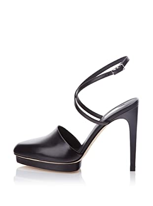 Calvin Klein Collection Women's Delilah Ankle Wrap Mule (Black)