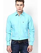 Light Blue Full Sleeves Casual Shirts