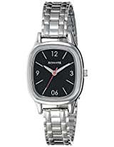 Sonata Analog Black Dial Women's Watch (8060SM02)
