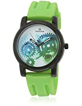 E-28807Pagb Green/Multi Analog Watch Maxima