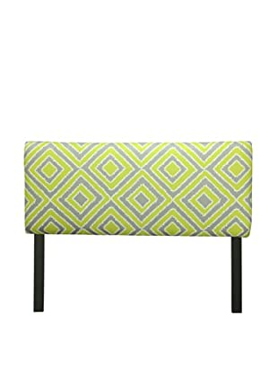 Sole Designs Upholstered Nouveau Headboard (Green/Grey)