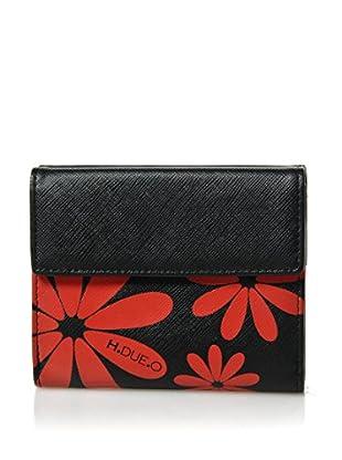H.Due.O Portafoglio Hippy Flowers Rosso