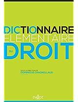 Dictionnaire Elementaire Du Droit